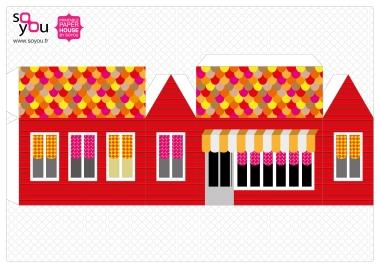 Paper House – Maison de papier – Modèle 07